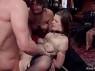 Babes rough screwing at orgy bdsm party