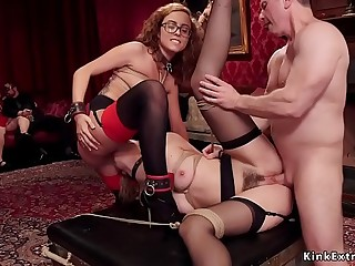 Two subs in corporal punishment and screw