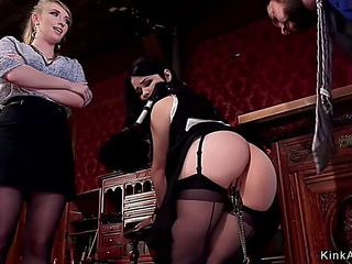 2 marvelous slaves ass fucking drilled