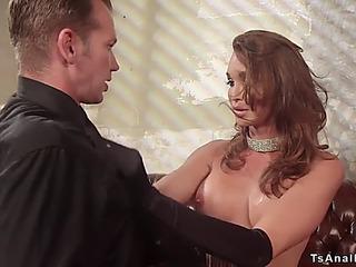 Transsexual bitch goddess anal invasion copulates detective
