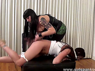 Domme spanked 1