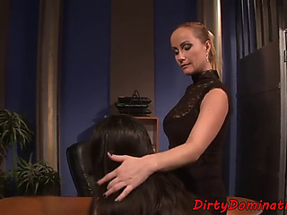 Mistress playgirl punishing fastened sub