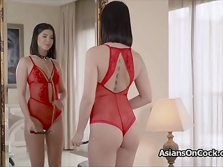 Chained Asian sex slave beauty pounded hard