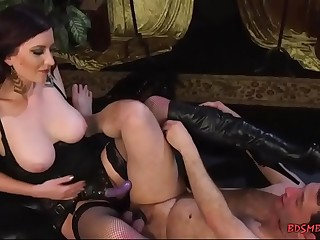 Slave worshipping mistress dirty socks
