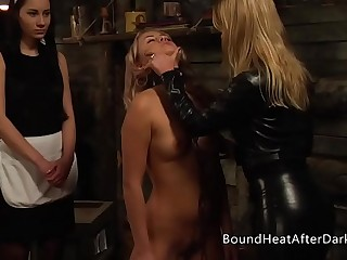 Serious Lesbian Mistress Uses Whip And Punishment To Train Her New Slave