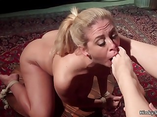 Lesbians from party to anal fucking