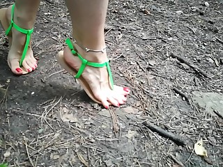 Barefoot in the woods @Barefoot.sheikha