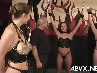 Fascinating gal is playing with her fake penis