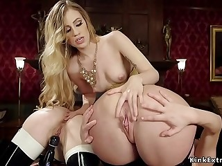 Lesbian domme anal fucks submissives