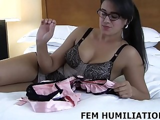I have a pair of pink panties for you to try on