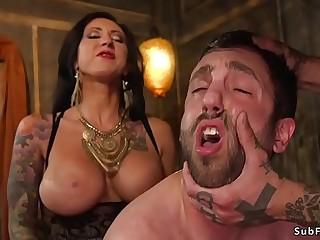 Alt couple gangbang fucking male sub