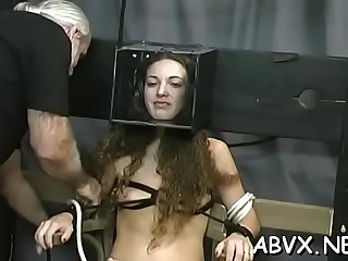 Seductive beauty is playing with her rubber sextoy