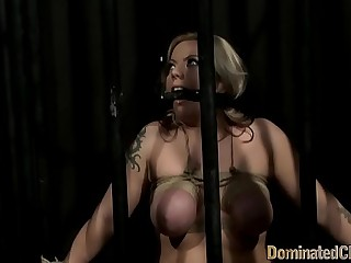 Dominated euro beauty pleasures her master