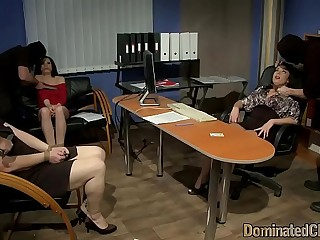 Chubby office beauty getting dominated